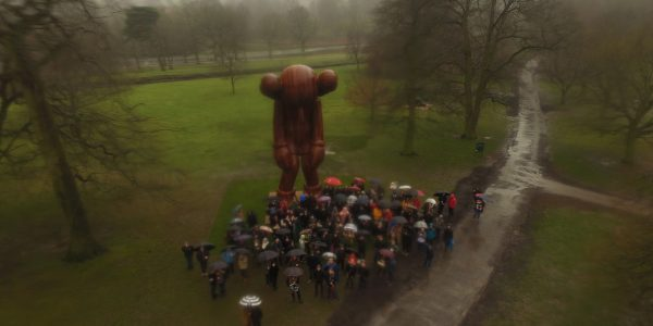Drone filming in the rain at Yorkshire Sculpture Park