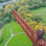 Angel of the North Drone filming for TV