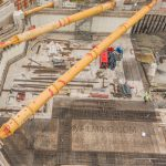 Aerial photography building site Leeds