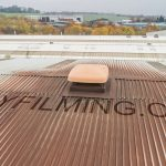 Sample drone roof inspection image from a factory in Rotherham