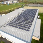Leeds leisure centre solar panel drone inspection