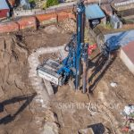 piling and excavation drone progress photography in Mexborough, near Doncaster