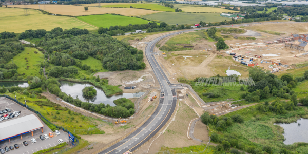 West Yorkshire Drone Road Build Construction Survey Complete