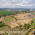 West Yorkshire Drone Road Build Construction Survey Month Two