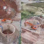 Water System excavation drone inspection