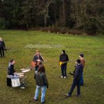 Music video drone filming in North Yorkshire