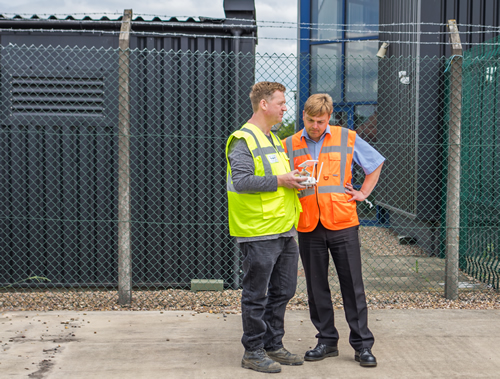 drone feasibility consulting at Newark-on-Trent factory in Nottinghamshire